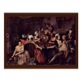 "Scene In A Tavern "" By Hogarth William Postcard"