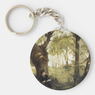 Scene in Auvers by Berthe Morisot Keychains