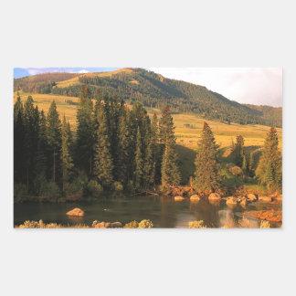 Scene Lamar Valley Yellowstone Wyoming Rectangle Stickers