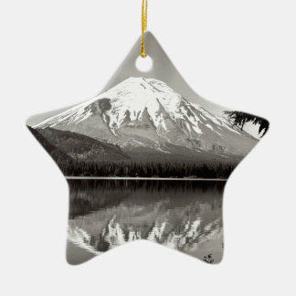 Scene Mount Saint Helens Spirit Lake Ceramic Ornament