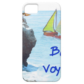 Scene of a distant place with boats and fauna iPhone 5 case