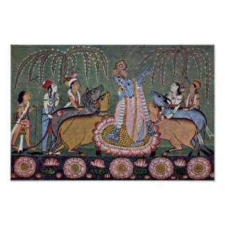 Scene Râgmâlâ Series: Krishna With His Flute By In Poster