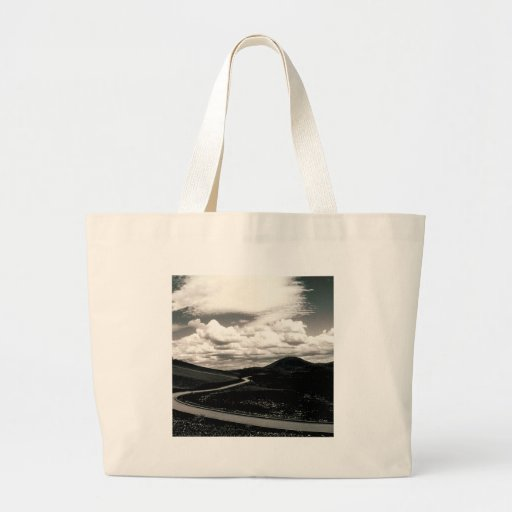 Scene Road Craters Of The Moon Tote Bags
