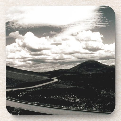 Scene Road Craters Of The Moon Beverage Coaster