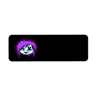 Scene Zombie (on dark background) Return Address Label