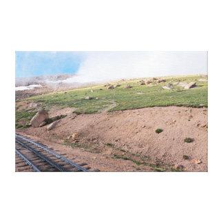 Scenery Along Historic Cog Railway Canvas Print