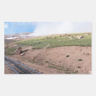 Scenery Along Historic Cog Railway Rectangular Sticker
