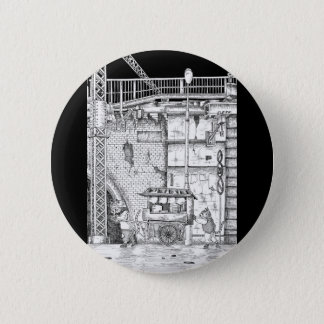 Scenery of downtown 6 cm round badge