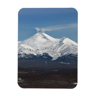 Scenery winter view of Avacha Volcano in Kamchatka Magnet
