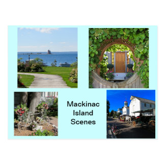 Scenes from Mackinac Island Postcard