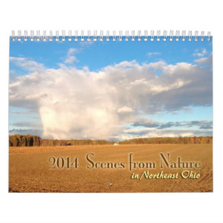 Scenes from Nature in Northeast Ohio for 2014 Wall Calendar