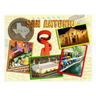 Scenes from San Antonio, Texas Postcard