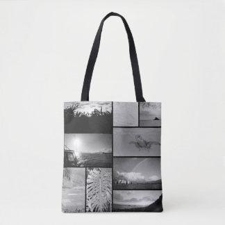 Scenes of Hawaii black and white Tote Bag