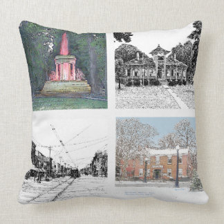 Scenes of Marshall Mich Throw Pillow