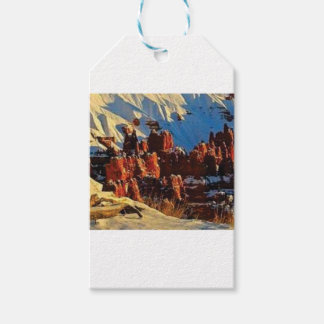 scenes of the snowy red rock gift tags