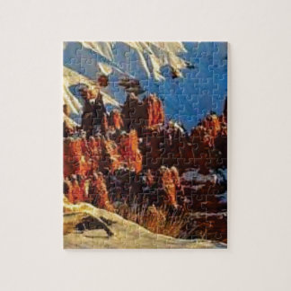 scenes of the snowy red rock jigsaw puzzle