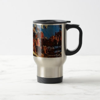 scenes of the snowy red rock travel mug