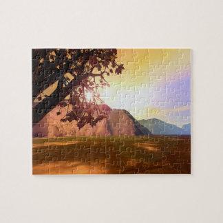 Scenic Autumn Tree Jigsaw Puzzles