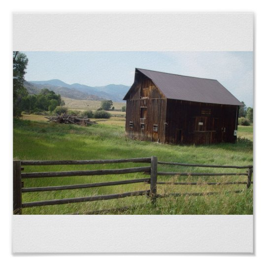 Scenic barns poster