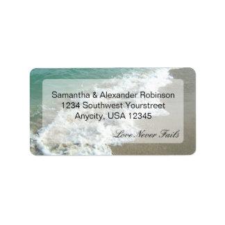 Scenic Beach Destination Wedding Address Label