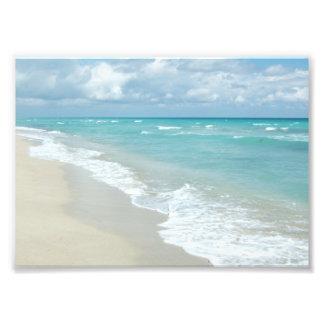 Scenic Beach Ocean, White Sand w/Aqua Water Photo Print