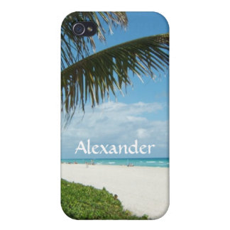 Scenic Beach, Side Palm Branch iPhone 4 Cover