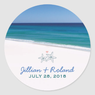 Scenic Beach Wedding Sticker