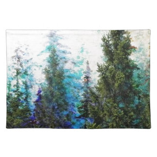SCENIC BLUE MOUNTAIN PINES PLACE MATS