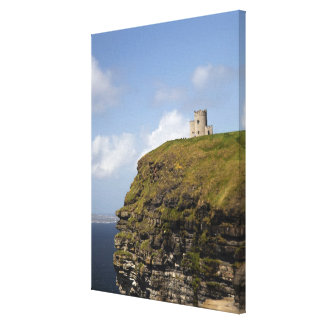 Scenic Cliffs of Moher and O'Brien's Tower. Gallery Wrap Canvas