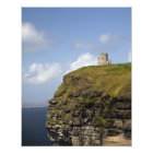 Scenic Cliffs of Moher and O'Brien's Tower. Photo Print