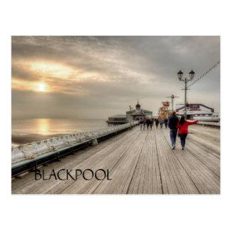 Scenic Coastal View Blackpool Pier UK Postcard