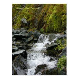 Scenic Creek Falls, Unalaska Island Postcard
