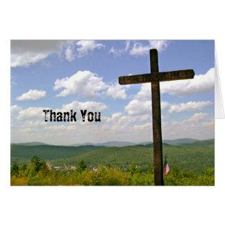 Scenic Cross on a Hill Pastor Appreciation Note Card
