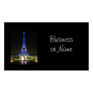 Scenic Eiffel Tower at Night Double-Sided Standard Business Cards (Pack Of 100)