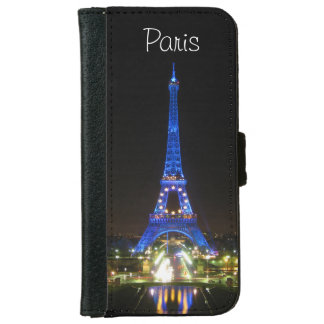 Scenic Eiffel Tower at Night iPhone 6 Wallet Case