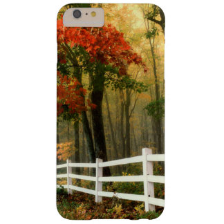 Scenic Fall Trees with White Fence Phone Case