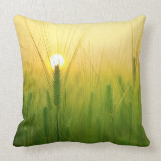 Scenic Green Field Pillow