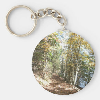 Scenic Hiking Trail Basic Round Button Key Ring