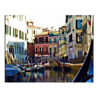 Scenic Italian Gondola Canal Postcard
