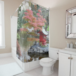 Scenic Japanese Garden Photo Shower Curtain
