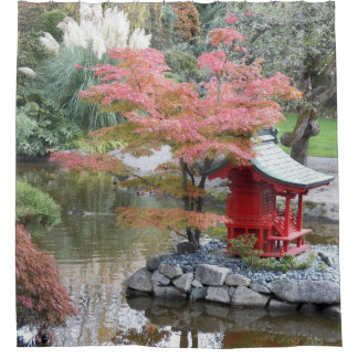 Scenic Japanese Garden Photo Shower Curtain