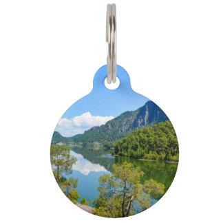 Scenic Lake Pet Name Tag