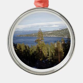 Scenic Lake Tahoe Deluxe Metal Ornament