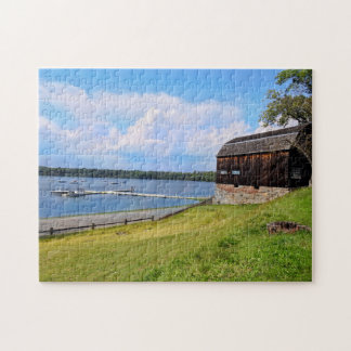 Scenic Landscape and Water. Wethersfield Cove, CT Jigsaw Puzzle