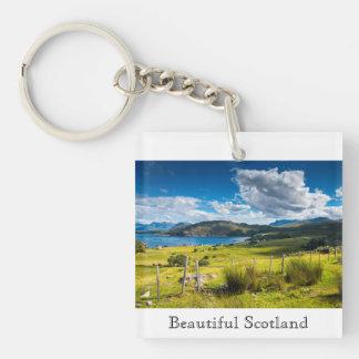 Scenic Landscape in Scotland Key Ring