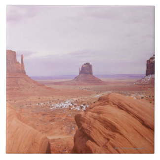 Scenic Landscape with Buttes Large Square Tile