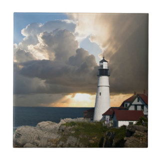 Scenic Lighthouse Beacon Tile