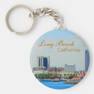 Scenic Long Beach Skyline Key Ring