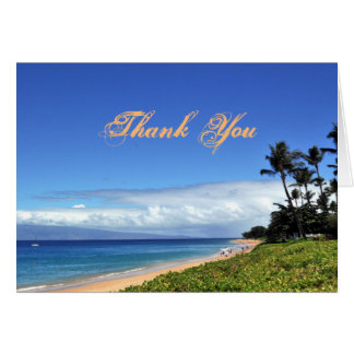 Scenic Maui Beach Thank You Card
