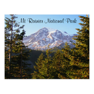 Scenic Mount Rainier Travel Postcard